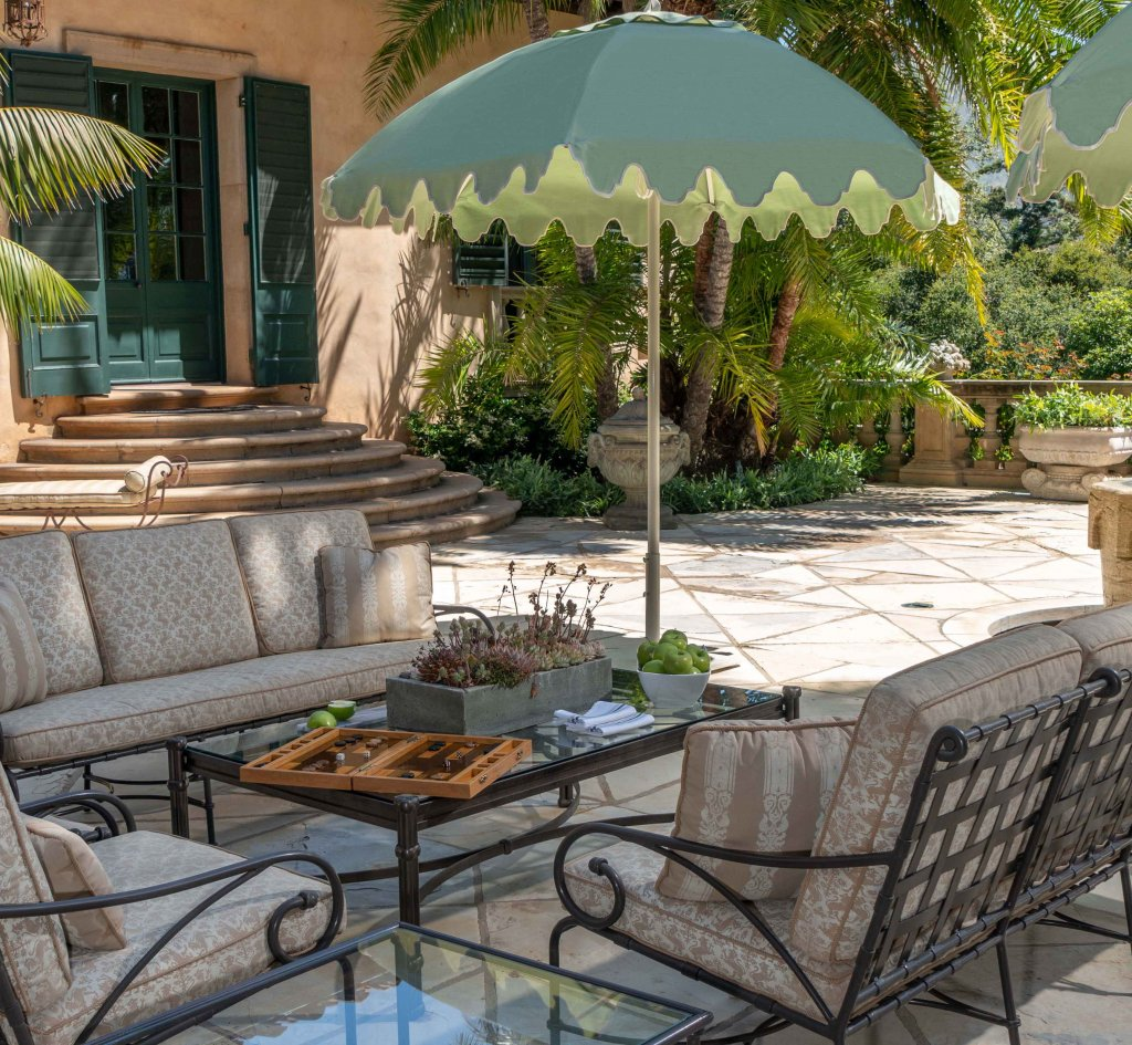 Image of umbrellas on patio