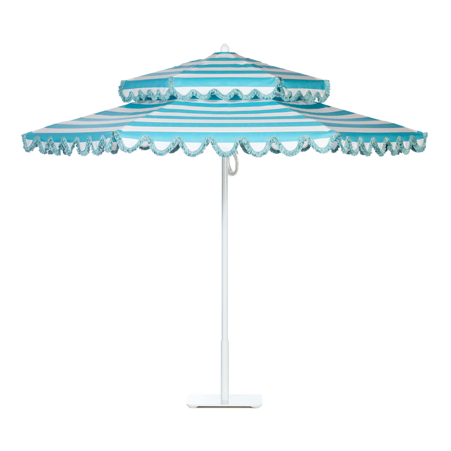 Aqua Sea Stripe Umbrella Image