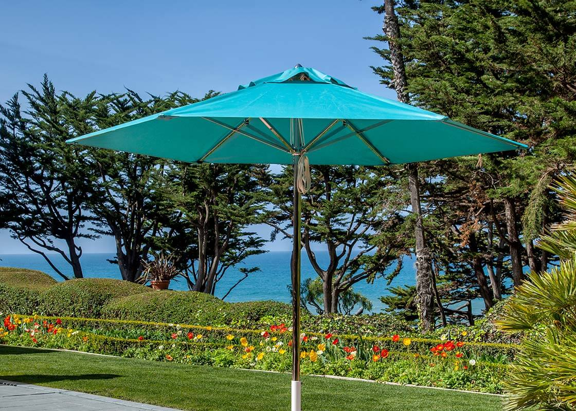 Turquoise Paseo Stainless Steel Umbrella Image